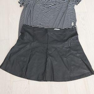 Reitmans pleather skirt